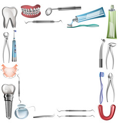 poster background template for dental vector image vector image