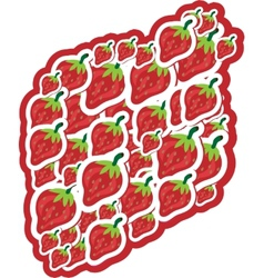 Strawberries on white background vector image vector image