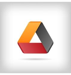 Logo Or Emblem Template Icon Infinite Mobius Strip vector image