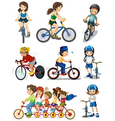 People biking vector image vector image