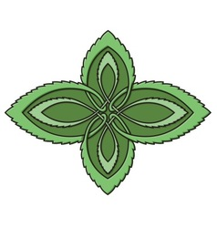 mint celtic knot vector image vector image