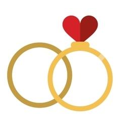 romance two rings love heart wedding symbol vector image vector image