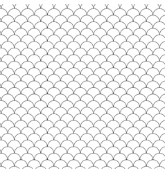 Seamless Circle Black and WhiteSea Shell Geometric vector image vector image