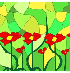 simulated stained glass vector image