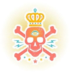 skull eye vector image