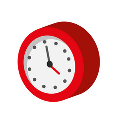 watch clock isolated icon vector image vector image