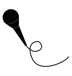 A black microphone or color vector