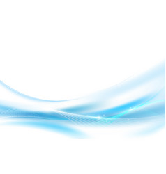 Abstract blue wavy with blurred light curved vector