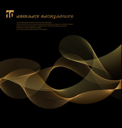 Abstract smooth gold color wave lines motion vector
