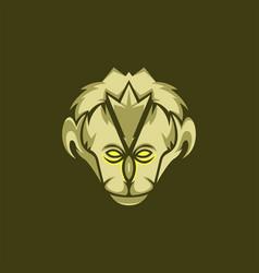 Ancient human head mascot vector