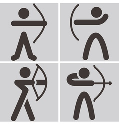 archery icons vector image
