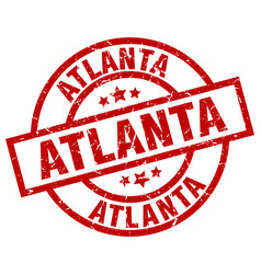 Atlanta red round grunge stamp vector