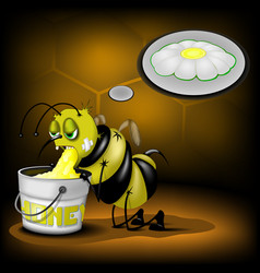 Bee makes the honey vector