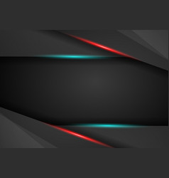 Black background overlap dimension red and blue vector