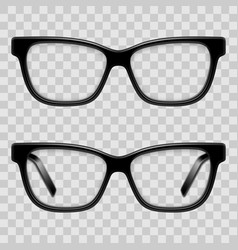 black framed glasses vector image