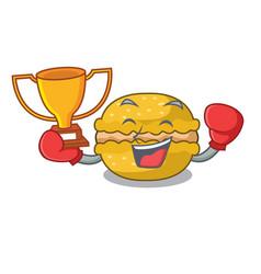 boxing winner macarons banana in shape a cartoon vector image