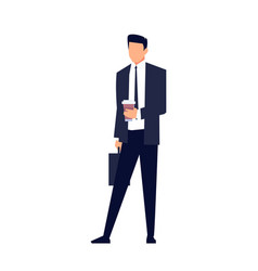 businessman in a flat style isolated vector image