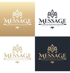 Calligraphic design element Golden brand vector image