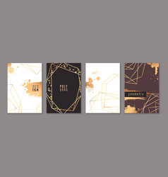 card with gold frames trendy luxury wedding vector image