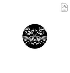 cat logo design abstract black color icon isolated vector image