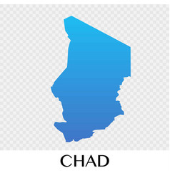 chad map in africa continent design vector image