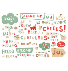 Christmas phrases vector