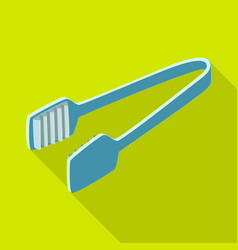 Design tongs and dishware icon vector