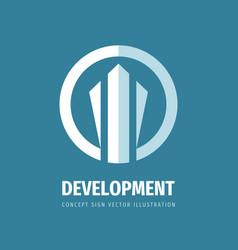 development concept business logo design banking vector image
