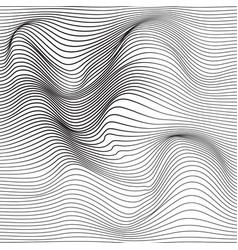 Distorted wave monochrome texture vector