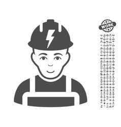 Electrician Icon With Bonus vector