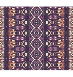 Ethnic geometric striped seamless tribal pattern vector