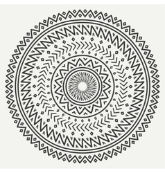 Ethnic mandala Tribal hand drawn line geometric vector