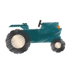 farm tractor icon vector image