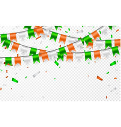 flags garland to st patricks day party background vector image