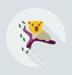 Flat modern design with shadow icons koala vector
