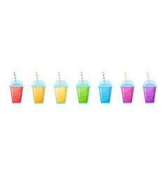 Fruit smoothie shake cocktail set menu template vector