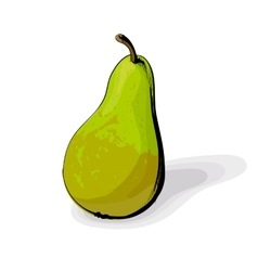 Green pear vector