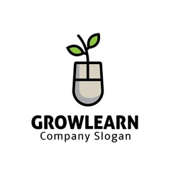 Grow Learning Design vector image