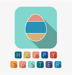 happy easter creative background with colorful vector image
