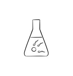 In vitro fertilization hand drawn outline doodle vector