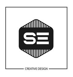 Initial letter se logo template design vector