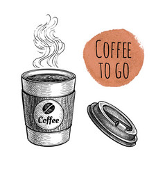 ink sketch coffee vector image