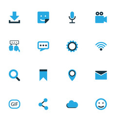 Internet colorful icons set collection of wifi vector