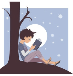 Joy of Reading vector image