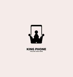 King phone logo template vector