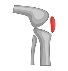 Knee replacement implant icon cartoon style vector
