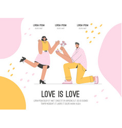 landing page love is love concept vector image