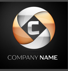 letter c logo symbol in the colorful circle on vector image