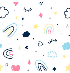 magic icons seamless for print vector image