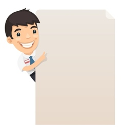 Manager Looking at Blank Poster vector